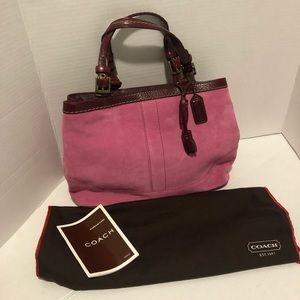 Coach Vintage Pink Suede Limited Edition Handbag
